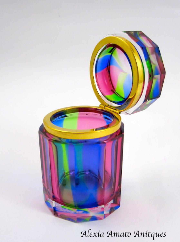 Murano Rainbow Casket Box