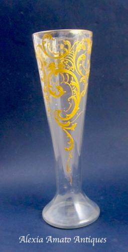 Tall French St Louis Glass Vase