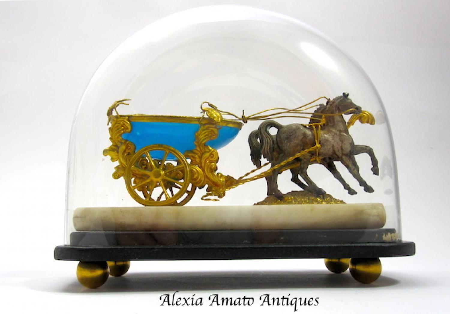 Antique Palais Royal Opaline Cart