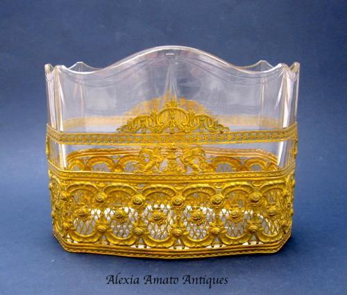 Antique Empire Crystal Jardiniere