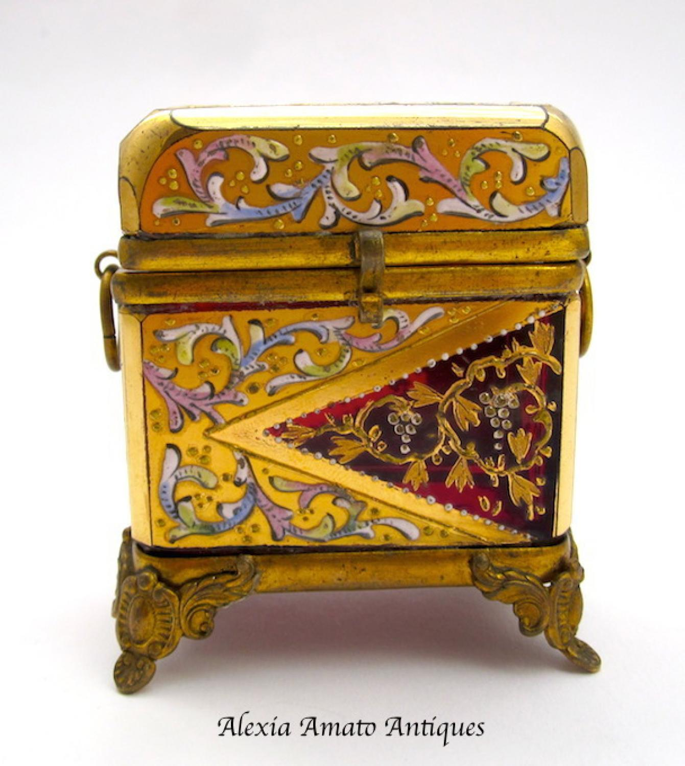 Miniature Antique MOSER Casket Box