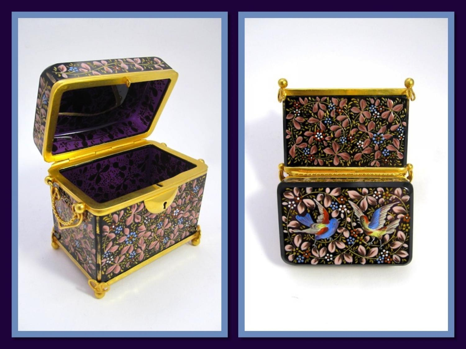 Antique MOSER Amethyst Casket Box