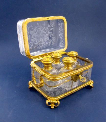 Antique BACCARAT Perfume Casket