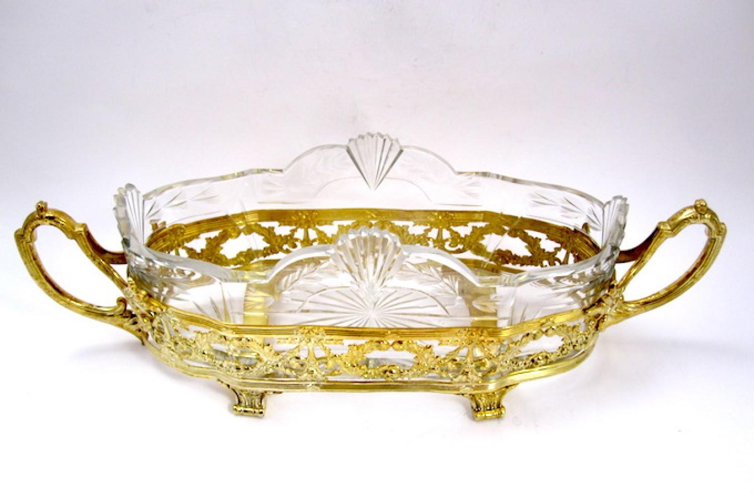 Napoleon iii dore bronze jardiniere in french crystal for Jardiniere napoleon 3