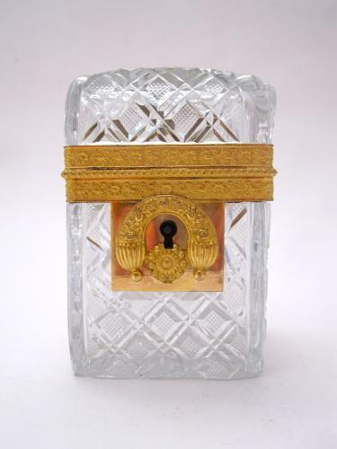 Baccarat Charles X Cut Crystal Casket Box