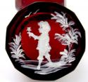 Antique Mary Gregory Ruby Red Casket Box - picture 4