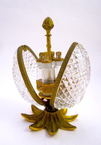 Antique Baccarat Cut Crystal Perfume Casket