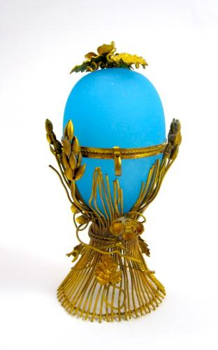 Palais Royal Opaline Glass Egg Casket Box