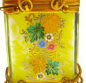 Antique Bohemian MOSER Yellow Glass Casket - picture 3