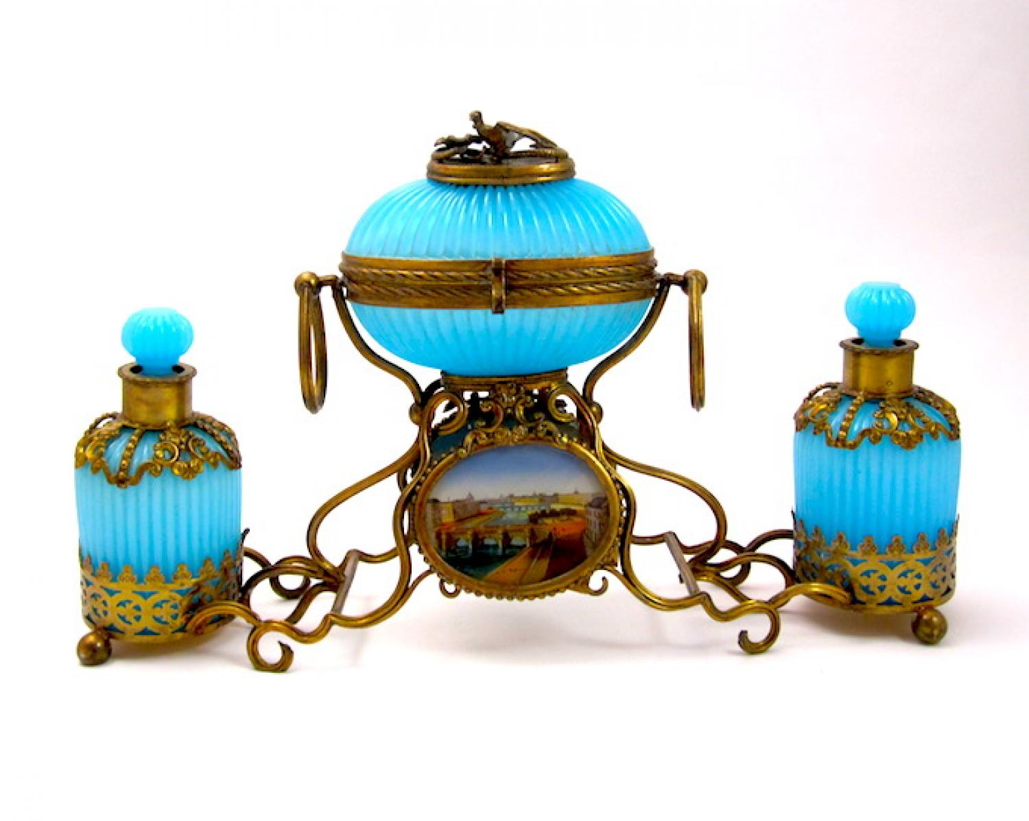 Large Palais Royal Opaline Perfume Set