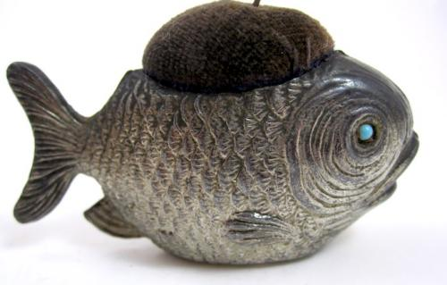 Antique Fish Pin Cushion
