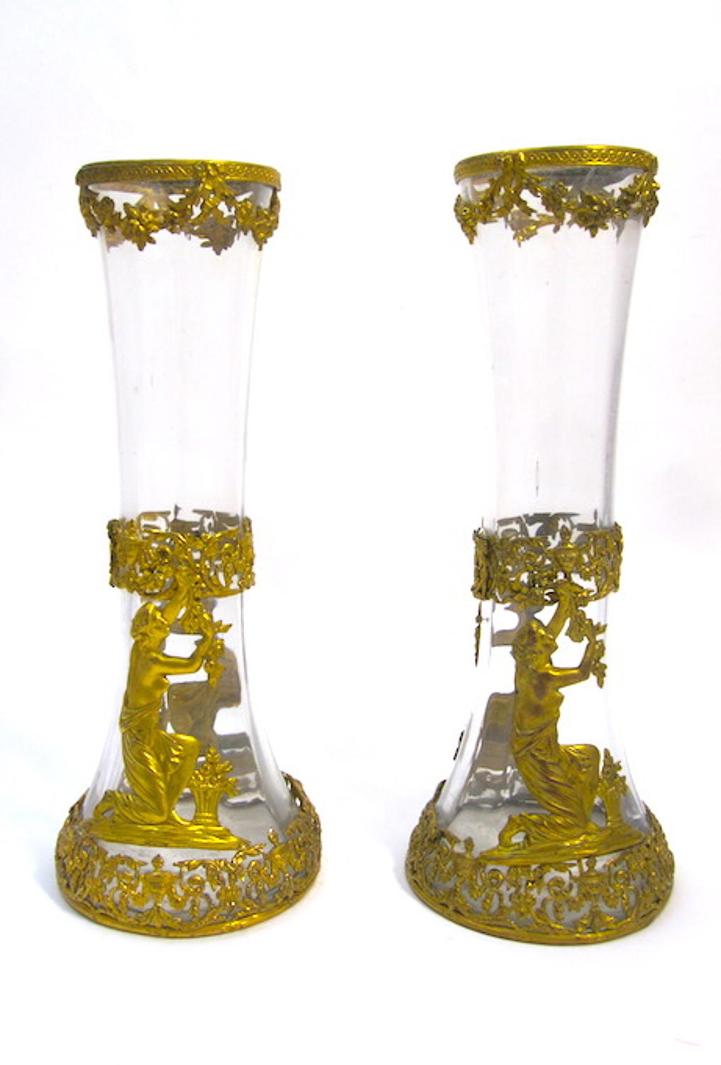 Pair of Antique French Empire Vases