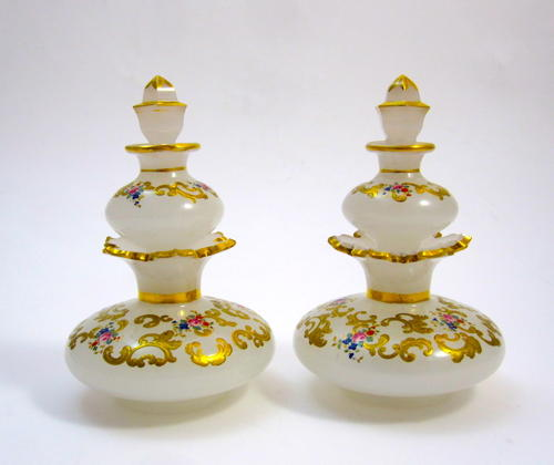 Pair of RARE Bohemian Double Perfume Bottles