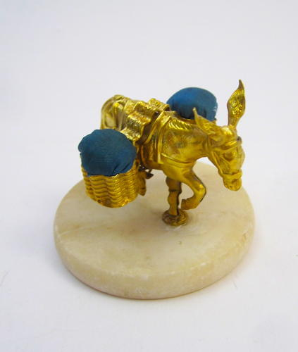 Antique French Donkey Pin Cushion