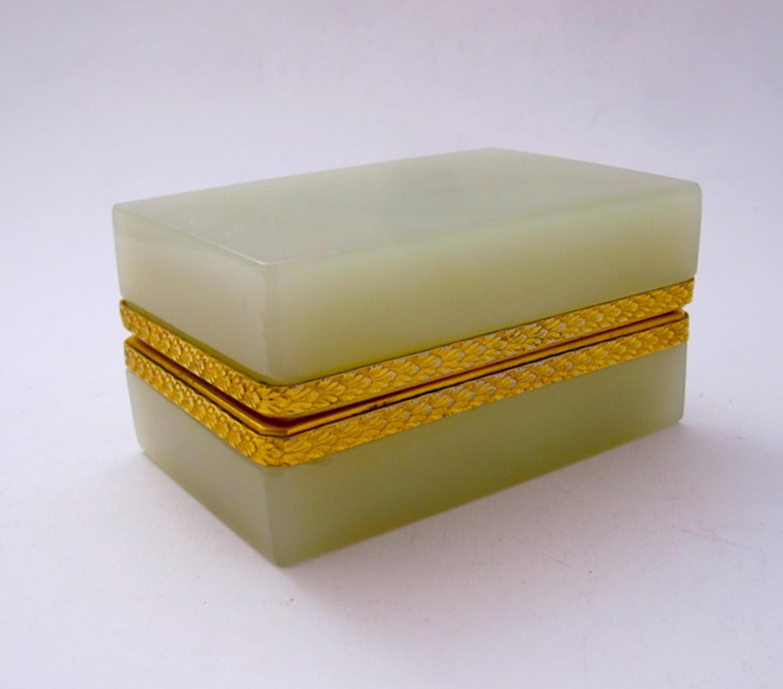 Antique Murano Yellow Opaline Glass Casket