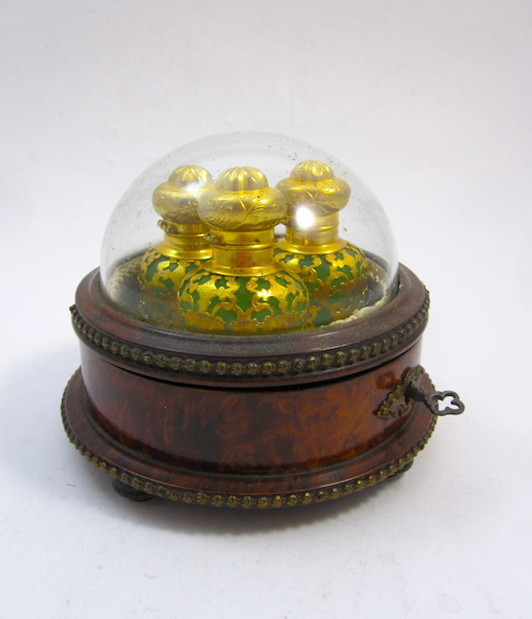 Rare Palais Royal Opaline Glass Perfume Set