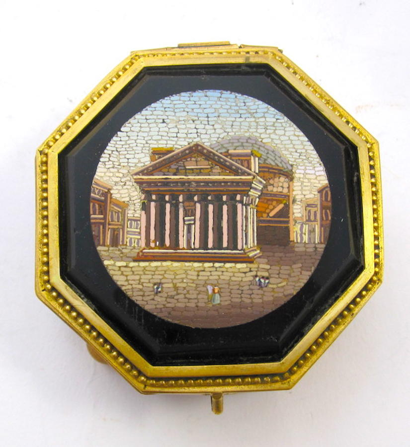 Antique Italian Micromosaic Jewellery Box