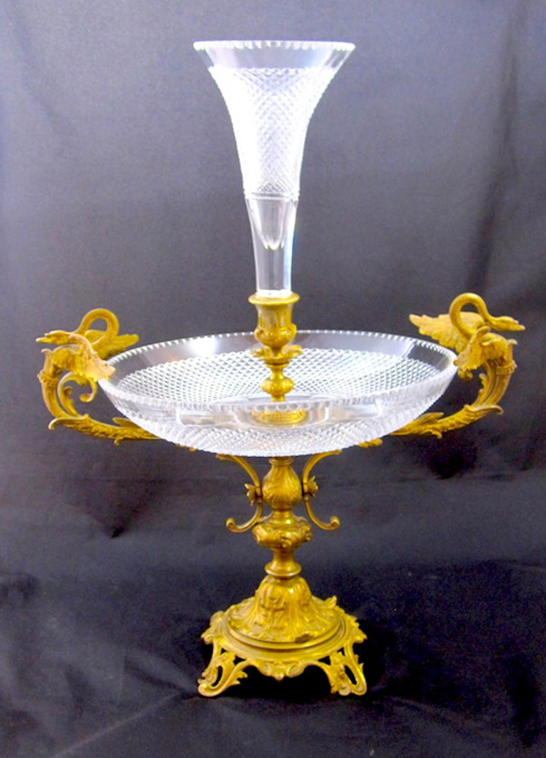 Antique Baccarat Crystal Centrepiece