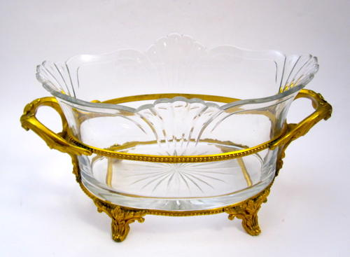 Antique Baccarat Cut Glass Jardiniere
