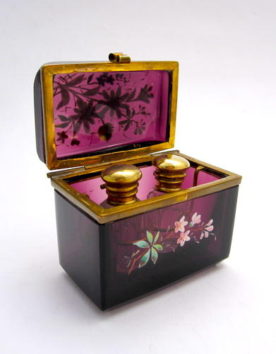 Antique French Amethyst Perfume Casket