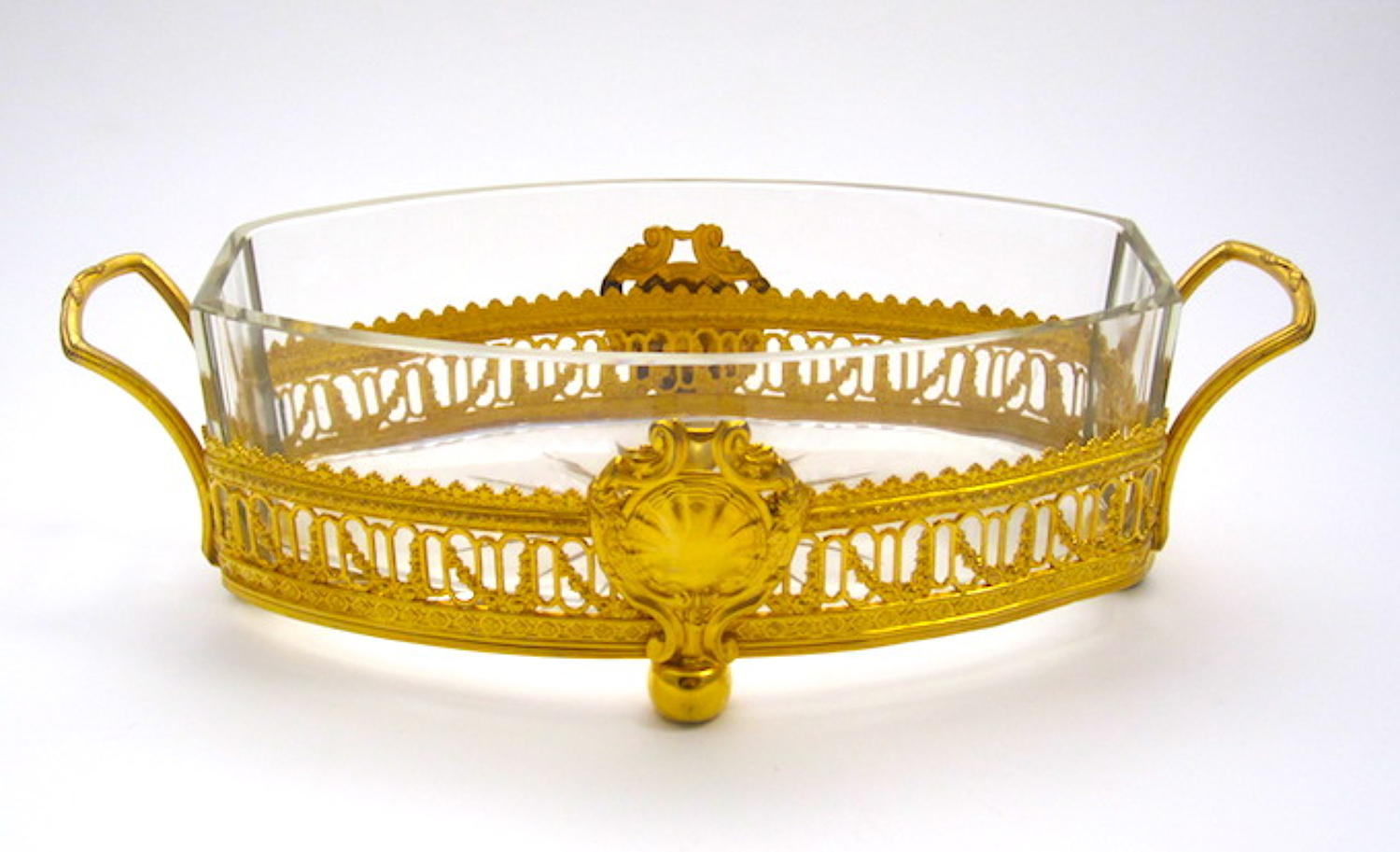 Empire Bronze and Crystal Jardiniere