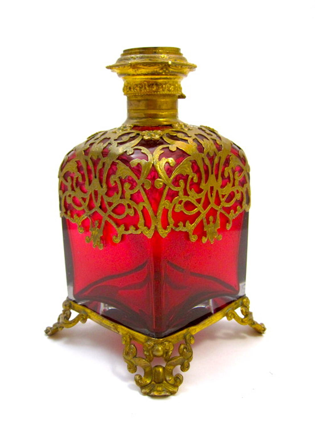 Large Palais Royal Red Scent Bottle