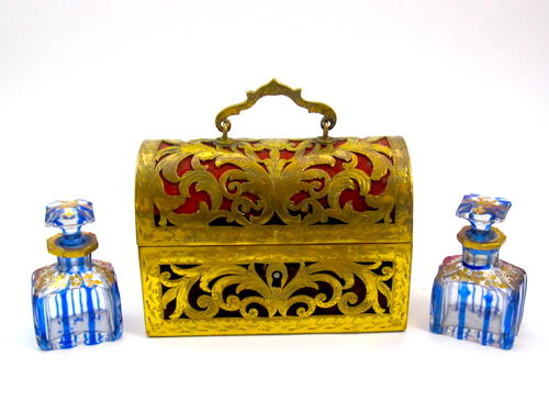 Antique French St Louis Perfume Casket