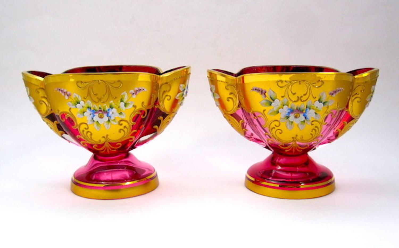 Pair Antique MOSER Vases