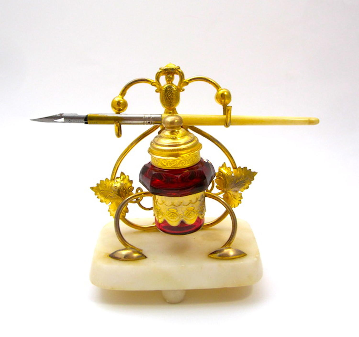 Antique Palais Royal Inkwell Set