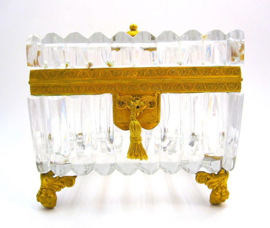 Exceptional Antique BACCARAT Crystal Casket