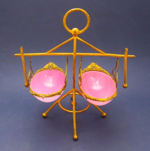 Antique French Pink Opaline Set