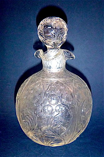 Stevens & William c.1890 Engraved Scent Bottle
