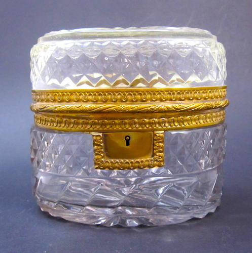 Antique BACCARAT Cut Crystal Casket Box