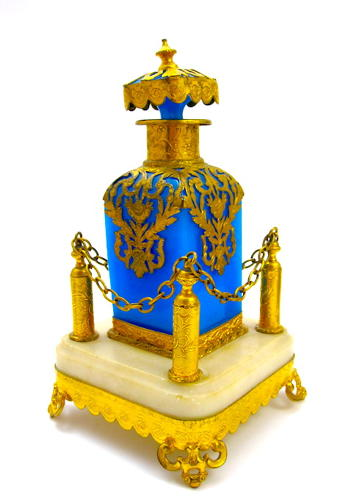 Very Large Palais Royal Perfume Bottle and Stand