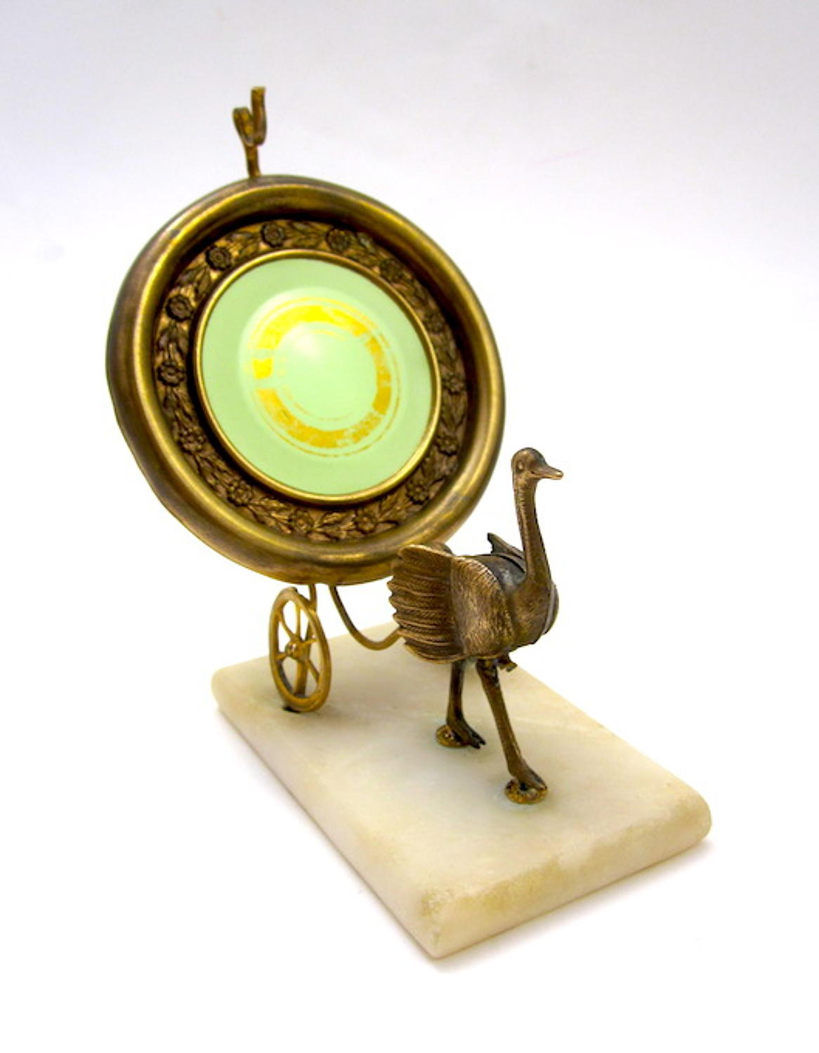 Unusual French Opaline Glass Watch Holder