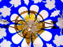 Antique Blue Overlay Glass Tazza - picture 4