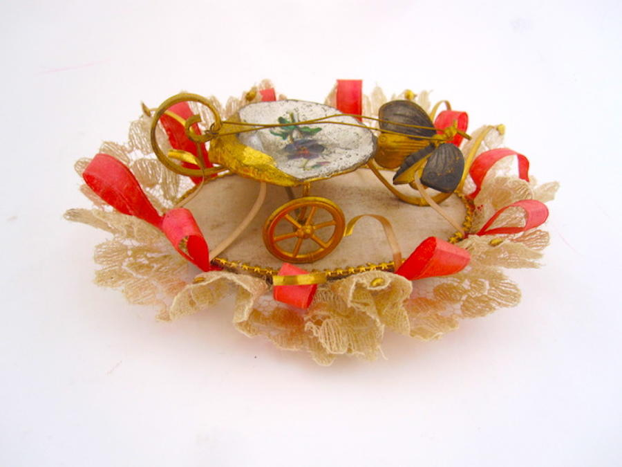 Antique Palais Royal Mother of Pearl Carriage