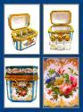 Amazing Rare Blue Opaline BACCARAT Perfume Casket & Key - picture 10