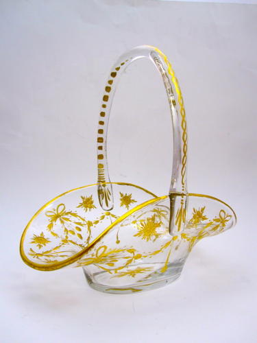 Antique St Louis Glass Basket