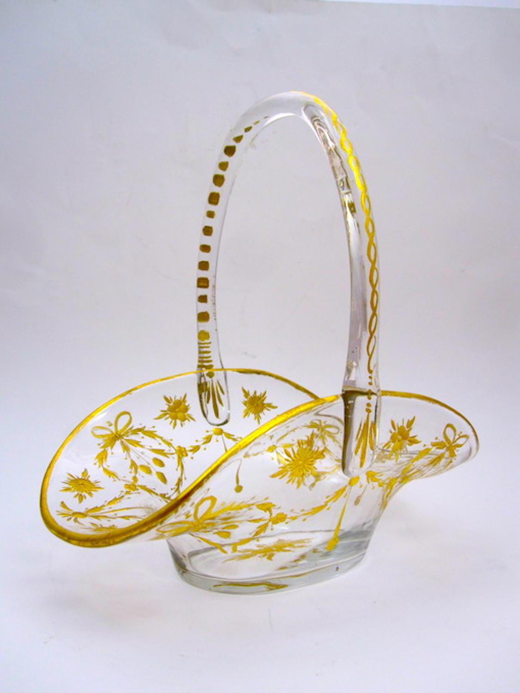 Antique St Louis Glass Basket