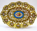 Antique French 'Sevres' Porcelain Mounted Dore Bronze Dresser Tray - picture 1