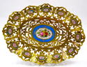 Antique French 'Sevres' Porcelain Mounted Dore Bronze Dresser Tray - picture 6