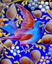 Exceptional Antique Moser Blue Glass Casket Box - picture 10