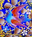 Exceptional Antique Moser Blue Glass Casket Box - picture 9