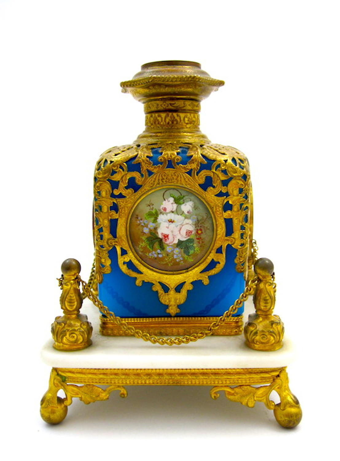 Antique Palais Royal Perfume Bottle and Stand