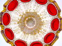 Antique Bohemian Ruby Red 'Jewel' Glass Bowl - picture 6