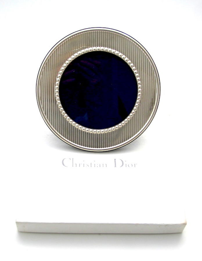 Original Christian Dior Silver Photo Frame and Original Box