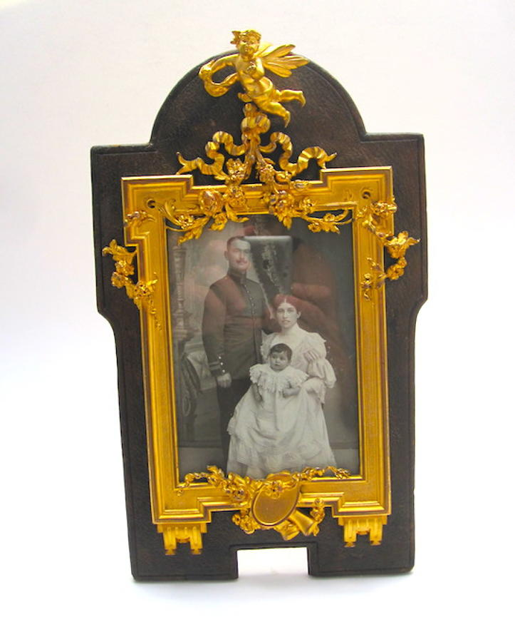 Antique SIGNED Empire Dore Bronze Frame