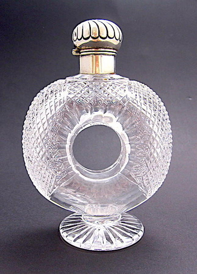 Antique Horace Woodward & Co Ltd Cut Crystal Perfume Bottle