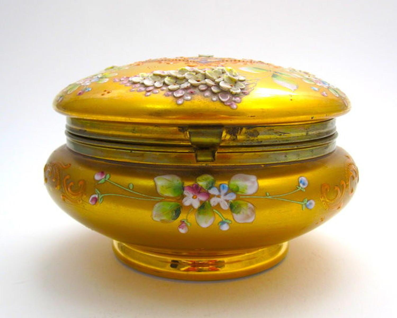 Antique Moser Enamelled Casket Box